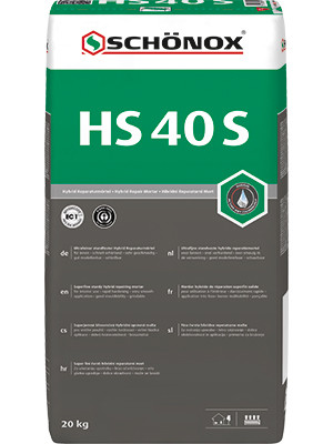 Ultrafeiner Hybrid Reperaturmörtel / Spachtelmasse HS 40 S