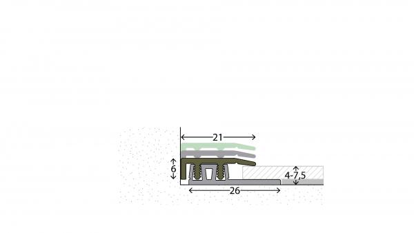 Profi Design Abschlussprofil glatt 324