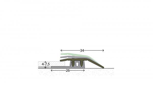 Profi Design Anpassungsprofil glatt 323