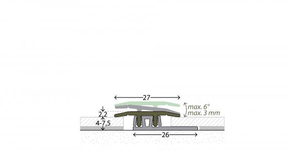 Profi Design Übergangsprofil glatt 322